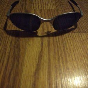 Silver & Black Oakley Sunglasses